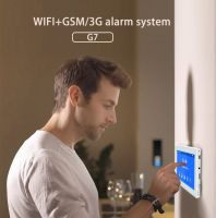New Design 7inch full screen touchpad wifi+GSM smart HOME security alarm system anti theft
