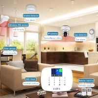New Design wifi+GSM HOME security alarm system TFT2.4inch screen anti theft