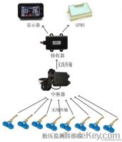 TPMS for 8-wheel heavy-duty truck with GPRS