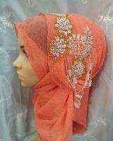 handmade diamond or embroidery headwear hijab