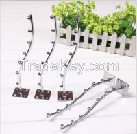 wall mounted metal hook with balls for clothes display use