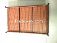 rattan pet bed with plush cushion set, 100%export quality, custom order welcome