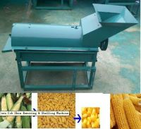 corn peeling and threshing machine