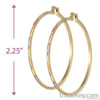 2mm Bangle hoop earrings