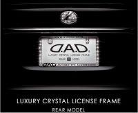 D.A.D Luxury crystal car license frame rear model