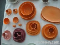 color porcelain dinnerware