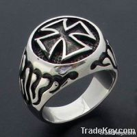 hot sell cross men's ring, available from stock