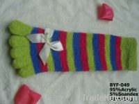 100%microber knitted five toes socks