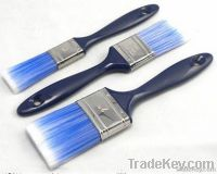 wooden handle synthetic filament paint brush