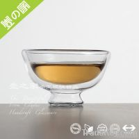 Double-layer glass teacup