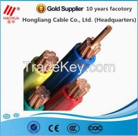 Low voltage 0.6/1kv copper conductor PVC/XLPE insulation electrical cable