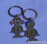 The bridegroom and bride lover keychain