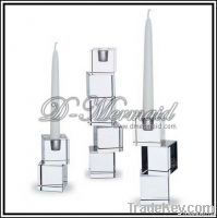 Clear crystal glass candleholder , candlestick