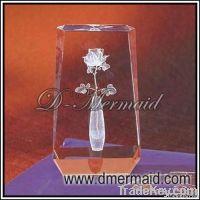 crystal laser award, glass award with inner laser