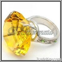 Wholesale high end gold crystal glass wedding napkin ring
