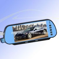 7inch Rearview Mirror with Bluetooth, USB&SD and MP5 Function