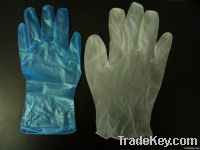 Blue Powdered Free Vinyl disposable/examination gloves