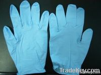 Blue Powdered  Nitrile disposable/examination gloves