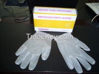 Powdered Vinyl disposable/examination gloves