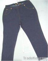 Ladies Knit Denim Pants