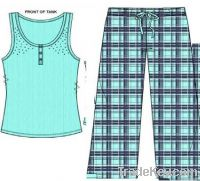 Girls Tank Top and Woven Pant
