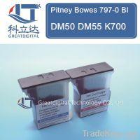 Compatible Pitney Bowes 797-0 BI DM50 DM55 K700 Blue Ink / Red Ink