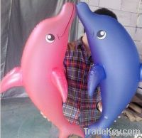 pink inflatable dolohin toy for kids