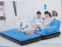 flcoked pvc  inflatable sofa bed