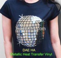 Metallic polyester heat transfer flex vinyl