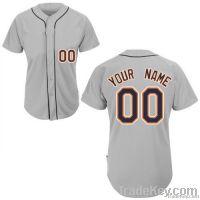 Tigers Away Any Name Any # Custom Baseball Jersey uniform