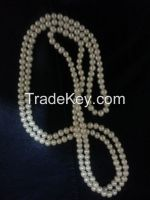 Two Strand Natural Pearl Necklace