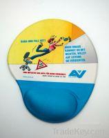 Gel wrist rest promotional mouse pad