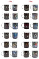 11OZ custom hot water  temperature heat sensitive color changing mug ceramic