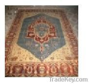 Wool hand-knotted carpet