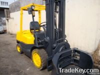used TCM 3t forklift with paper roll clamp