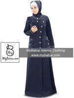 Designer Front Open Jilbab, Long Abaya Maxi Dress, Islamic Hijab Clothing, Modern Burqa AY-344