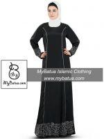 MyBatua Women's Wholesale Raameen Black Abaya AY-333