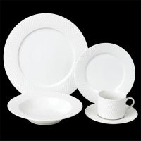 16pcs fine porcelain embossed dinner set