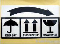 Warning Sticker, Fragile Items, Adhesive Label