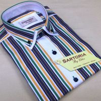 Double collar mens shirts (model Bartack)