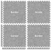 "Carpet Foam Floor  24""X24""/ 2'X2'"