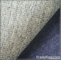 Knitted french terry denim fabric