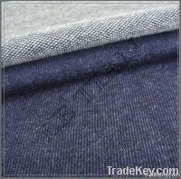 Knitted babby terry denim fabric