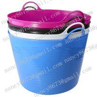 flexible pe bucket, plastic bucket wholesale, garden bucket