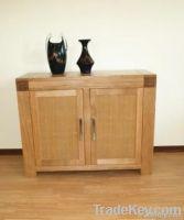2 door solid oak sideboard, dresser, cabinet