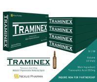 Traminex (Tranexamic Acid Injection) 5mL / 10 Ampoules