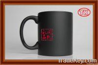 matt color changing mug 11OZ, black matt cup, print image by mug press