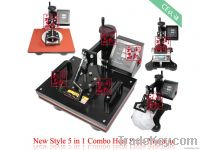 Factory Direct Sales new Heat Transfer Machine / 5 In 1 Multi-function