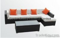 5 Piece Wicker Sofa Set