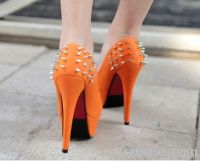 2012 new fashion high heel sexy studs women shoes